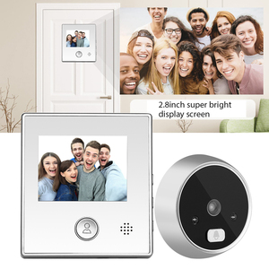 2.8 inch Digital Photo Video Recording Home Security Door Peephole Camera Viewer PIR Night Vision Wide Angle No Disturb Doorbell(China)