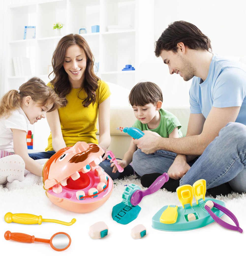 Juguetes De Doctor para niños, juguete para juego de imitación, conjunto de modelos de dientes de control de dentista, Kit médico, juego de rol, simulación de juguetes de Aprendizaje Temprano