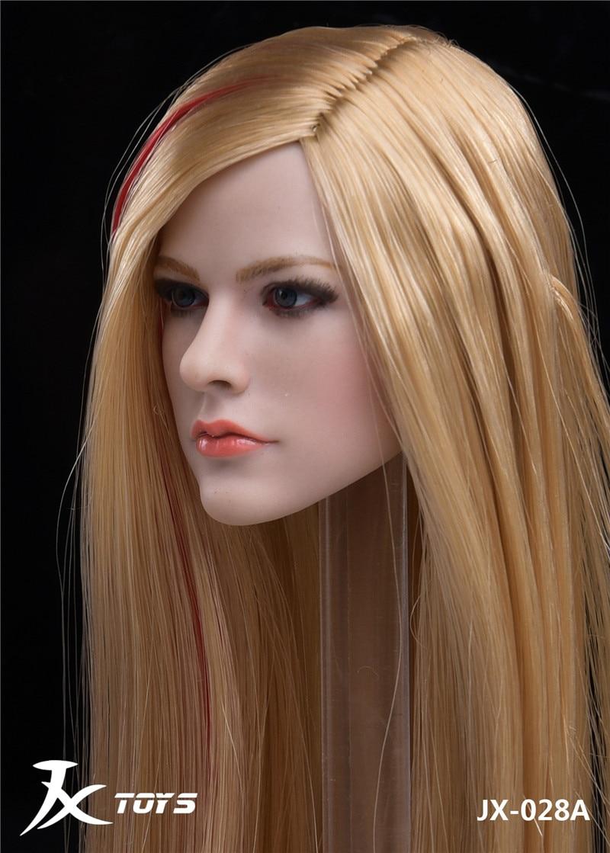 1//6 scale Female Head Sculpt LONG BLONDE Hair for 12/'/' Figure Doll PHICEN
