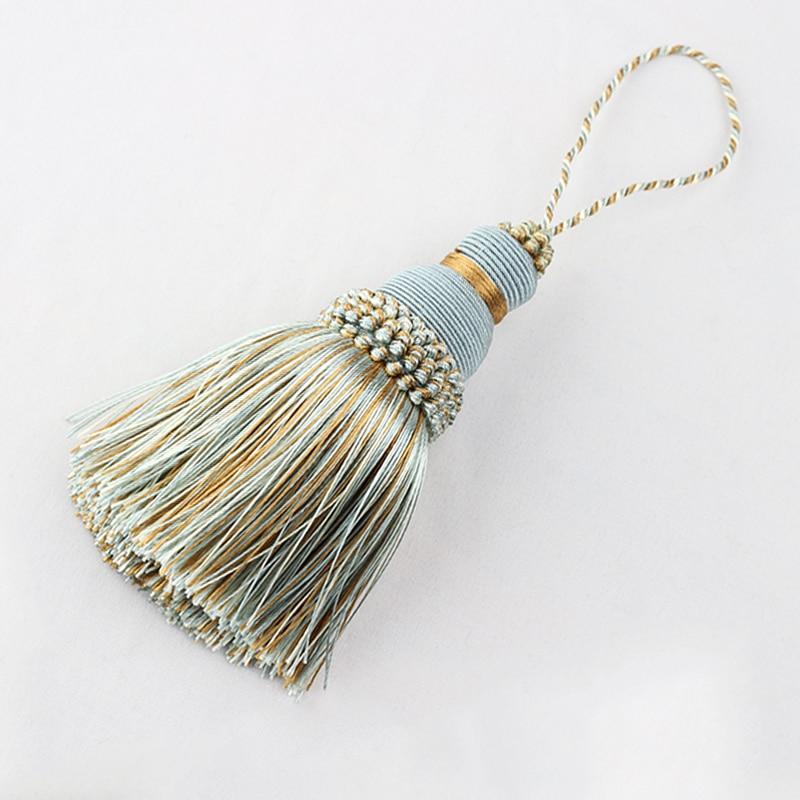 1Pc Silk Tassel Fringe Sewing Hanging Rope Tassel Trim Clothes Decoration Key Tassels for DIY Embellish Curtain Accessories