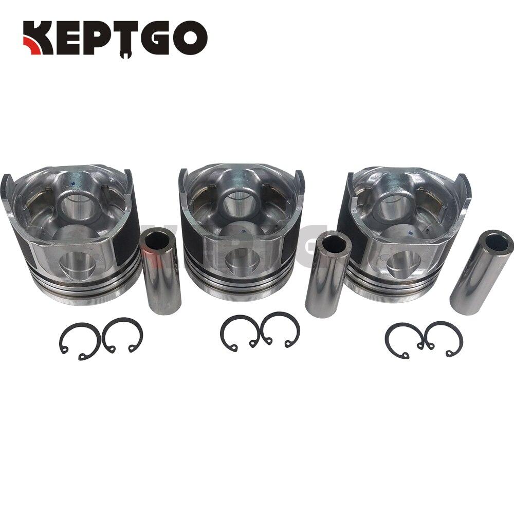 3 Set Piston STD 78mm For Kubota D1105 16060-21110