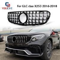 X253 AMG Style Grill GT R Front Bumper Grille Mesh For Mercedes GLC W253 X253 2016 2018 GLC300 GLC350 GLC200 GLC250 GLC43