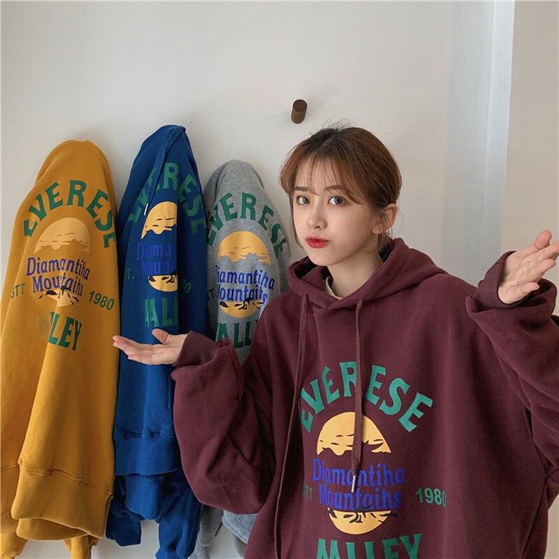 winter streetwear women tops kawaii harajuku hoodies korean style long sleeve clothes sweatshirt women Pullovers 1