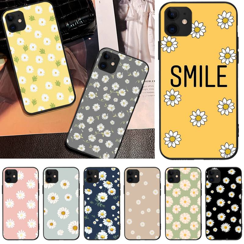 LJHYDFCNB daisy wallpaper DIY Luxury Phone Case For iphone6 6s plus 7 8 7 8 plus X XR XS MAX 11 Pro Max Cover image