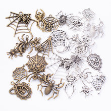 50 г 100 Смешанные Подвески в виде животных пауков для браслетов
