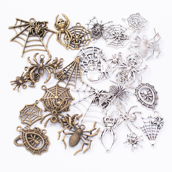 50g 100g Mixed Charms Pendants Spider Animal for Bracelets Necklaces Anklet DIY Accessories for Wholesale Craft Jewelry Making 10pcs tree branch leaf metal charms pendants brooch necklaces bracelets charms findings diy for jewelry making craft wholesale