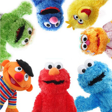 Sesame Street Hand Puppet Show Large Puppet Elmo Cartoon Soft Plush Doll Birthday Christmas Party Show For Children Kids Gifts