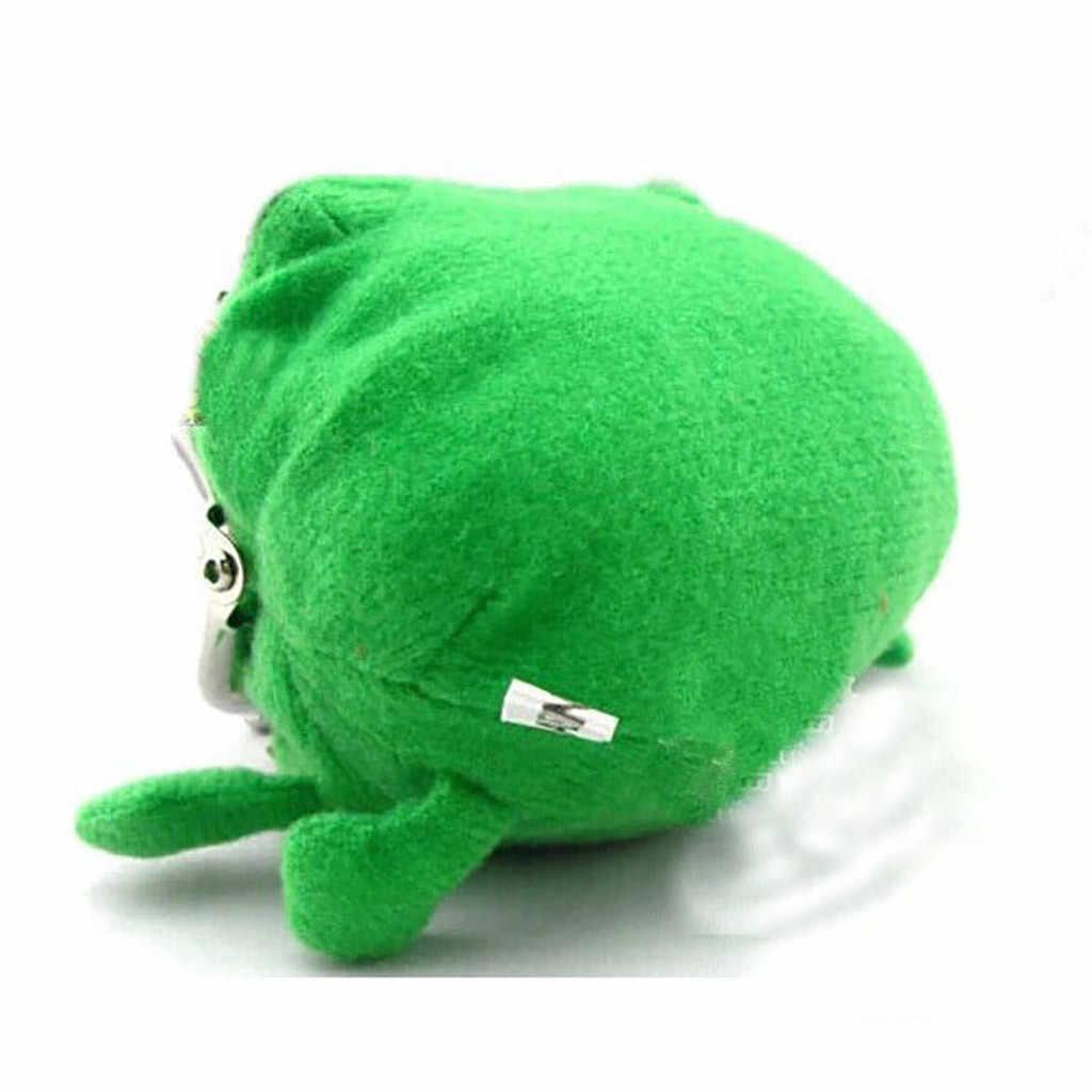 Lindo bolso de La Moneda verde monedero Cosplay Anime felpa juguete divertido Rana moneda bolsa niños billetera bolsa para monedas # PY10