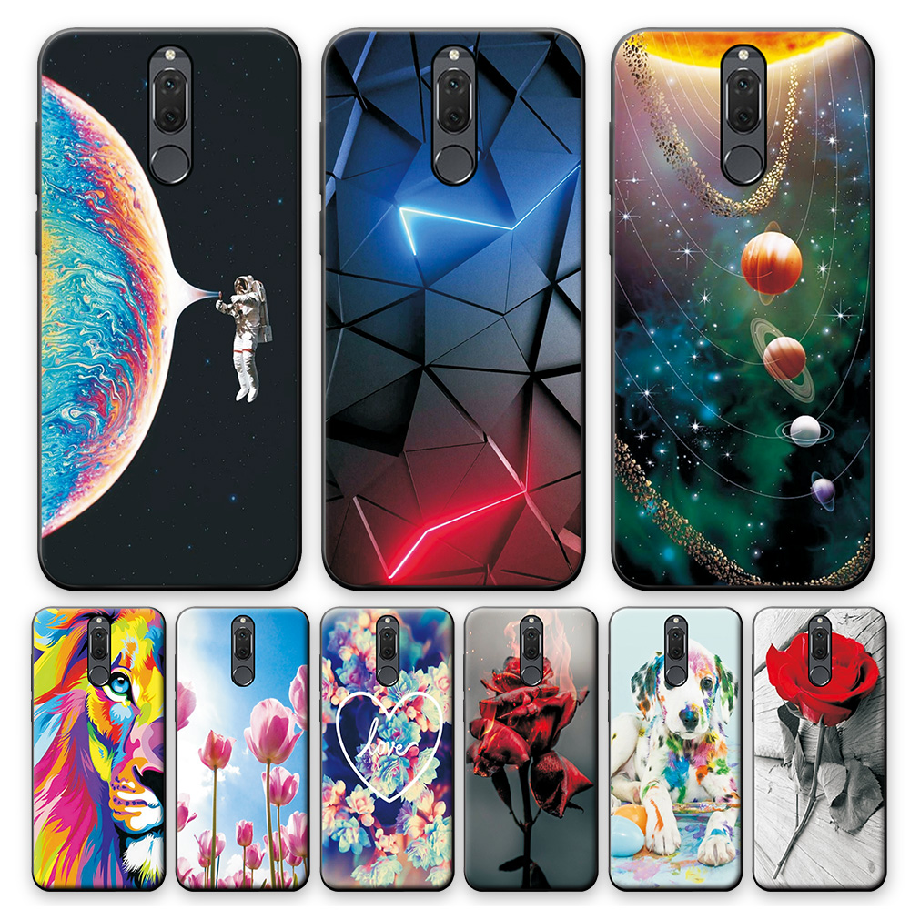 For Huawei Mate 10 Lite Case Cover on Nova 2i Silicone Phone Case For Huawei Nova 2i Case Mate 10Lite TPU Cases Cute Bumper 5.9