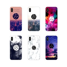 Untuk Samsung Galaxy S3 S4 S5 Mini S6 S7 Edge S8 S9 S10 Lite Plus Note 4 5 8 9 cell Phone Shell Mencakup Sunset Glow Bermain Bola Voli(China)