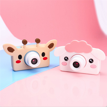 32GB Memory Card Camera Kids Portable Children 2400W HD Digital Camera Cute Cartoon Bear Mini Camera Toy Gift for Children