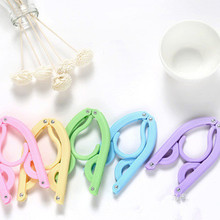 Foldable Hanger Clothes-Trouser-Socks Travel Outdoor Plastic for 4-Color 1PC New