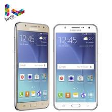 Оригинальный разблокированный Samsung Galaxy J7 SM-J700F Dual SIM мобильный телефон 1,5 Гб оперативной памяти, 16 Гб встроенной памяти, 5,5