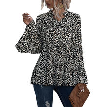 Женская модная рубашка с длинным рукавом и леопардовым принтом