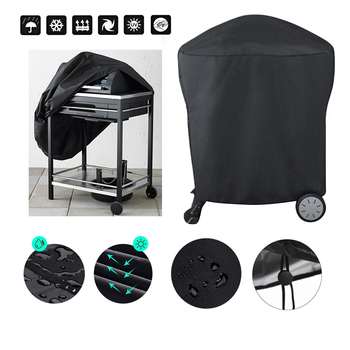 BBQ Cover Outdoor Dust Waterproof Weber Heavy Duty Grill Cover Rain Protective outdoor Barbecue cover  bbq grill black 1