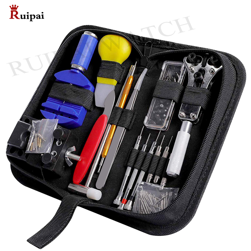 RUIPAI 147pcs Watch Repair Tool Kit Watch Link Pin Remover Case Opener Spring Bar Remover Horlogemaker Gereedschap