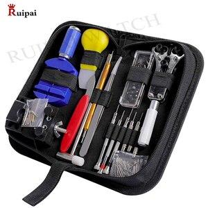 Image 1 - RUIPAI 147pcs Watch Repair tool Kit Watch Link Pin Remover Case Opener Spring Bar Remover Horlogemaker Gereedschap