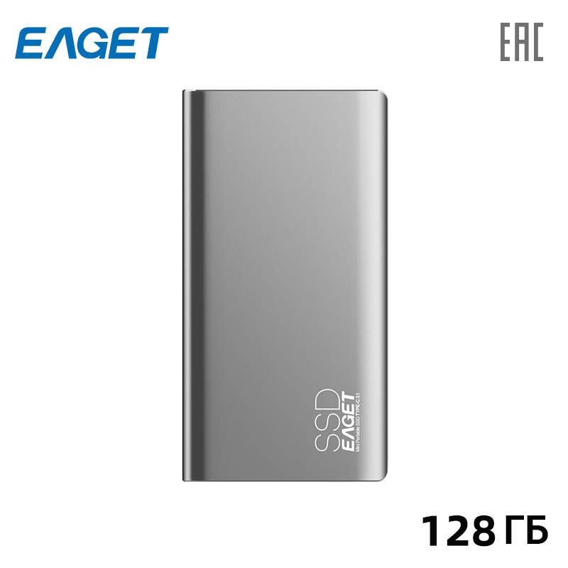 Portable SSD hard disk Eaget M1 128 GB Type-C + USB3.1 portable ssd hard drive eaget m1 256 gb