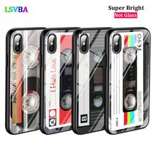 Black Cover Classical Old Cassette for iPhone X XR XS Max for iPhone 8 7 6 6S Plus 5S 5 SE Super Bright Glossy Phone Case black cover japanese samurai for iphone x xr xs max for iphone 8 7 6 6s plus 5s 5 se super bright glossy phone case
