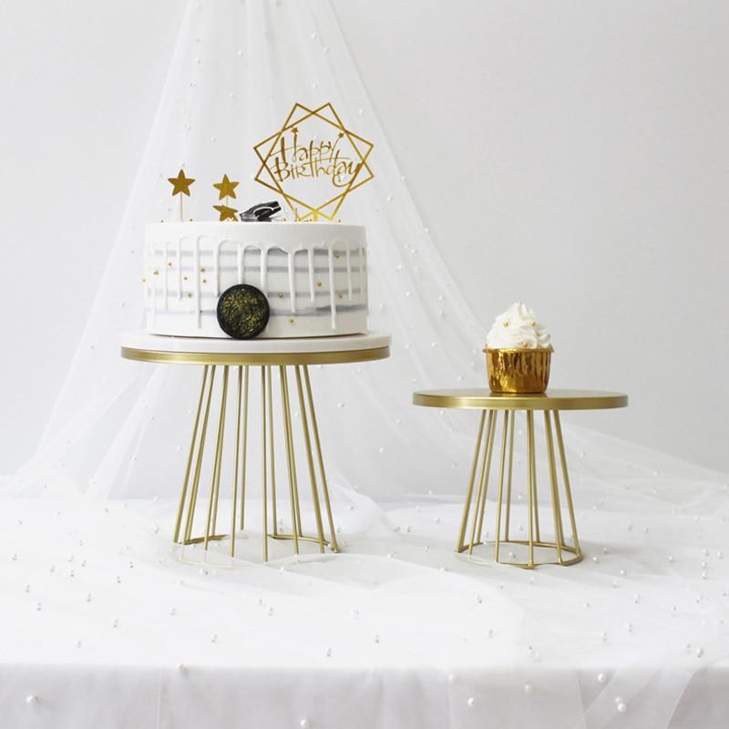 White Cake Stand Metal Dessert Table Cake Tray Christmas Birthday Party Macaron Cupcake Rack Stand For Wedding