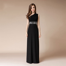Sexy Evening Dress 2019 Summer Long One Shoulder Banquet Host Dress Formal Dress Women Elegant Gala Party Event Dresses Beaded gala event page 5