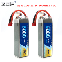 ZDF 2PCS 3S 6000mAh 11,1 V 50C Lipo Batterie für racer racing trx X MAXX UNLIMITDE E REVO TR 4 RC Auto RC Boot RC Drone