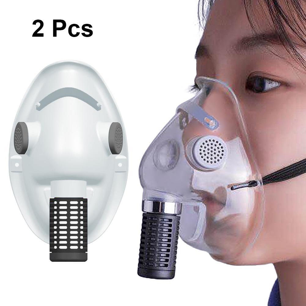 2Pcs PVC First Aid Kit Transparent Mask Anti Dust Bacteria Shield Respirator Reusable Protective Soft Face Mask