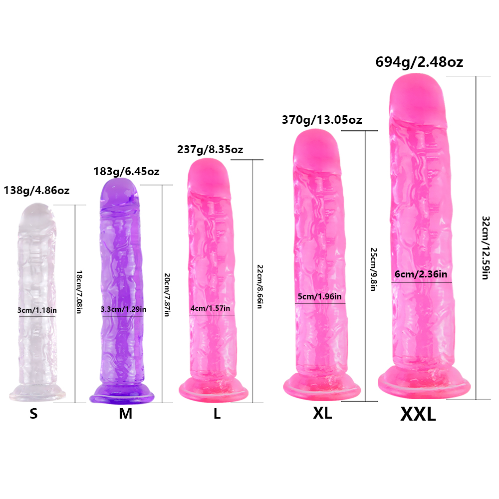 Realistic Dildo for Woman Soft Jelly Suction Cup Penis