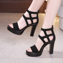 Big Size 32-43 Block Heels Platform Sandals Woman Shoes Summer 2019 High Heels Gladiator Sandals Women Sandals For Party mary yanxi new fashion high heels for women sandals fur lace up shoes sexy party summer shoes platform summer sandals big size