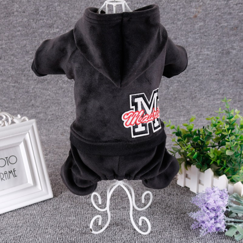 Pet зимние толстовки с капюшоном плотная верхняя одежда с добавлением бархата 4-клёш Одежда Щенок на холодную погоду, теплая одежда для собак Ropa Чихуахуа Одежда