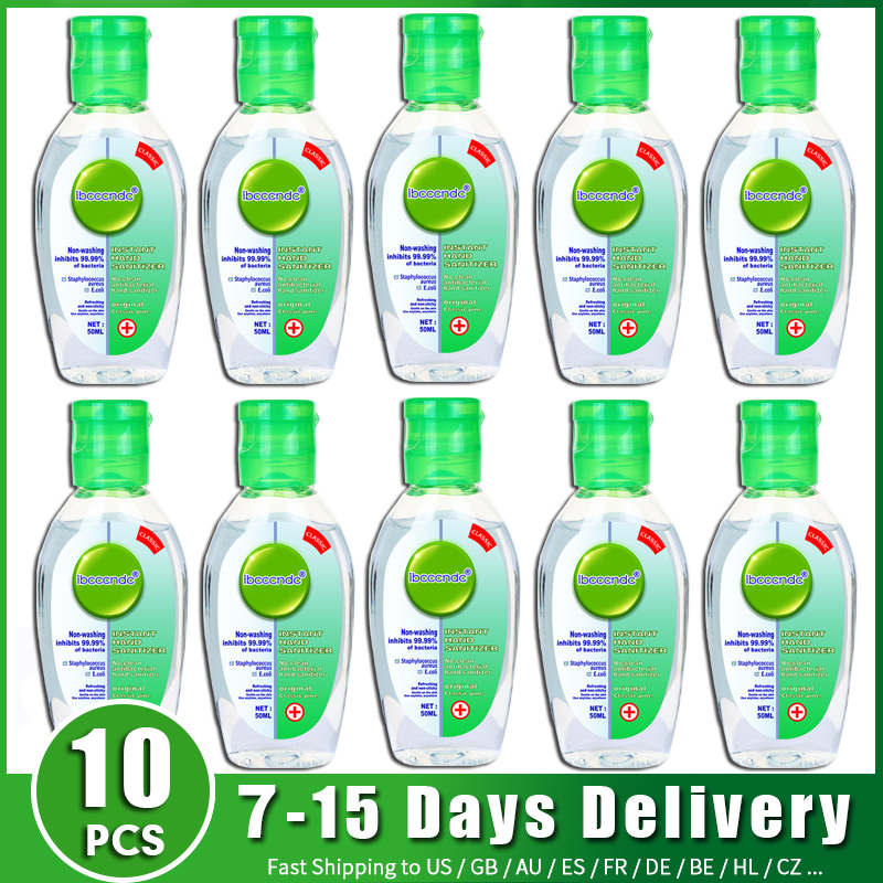 10pcs Hand Sanitizer Alcohol Gel Anti Bacterial Hand Gel Hand Disinfection Gel Handgel Sanitiser For Kids Adults Safe Wholesale