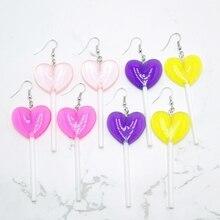 2020 New Fashion Love Lollipop Ladies Earrings Resin Lollipop Personality Charm Girl Earrings clever lollipop