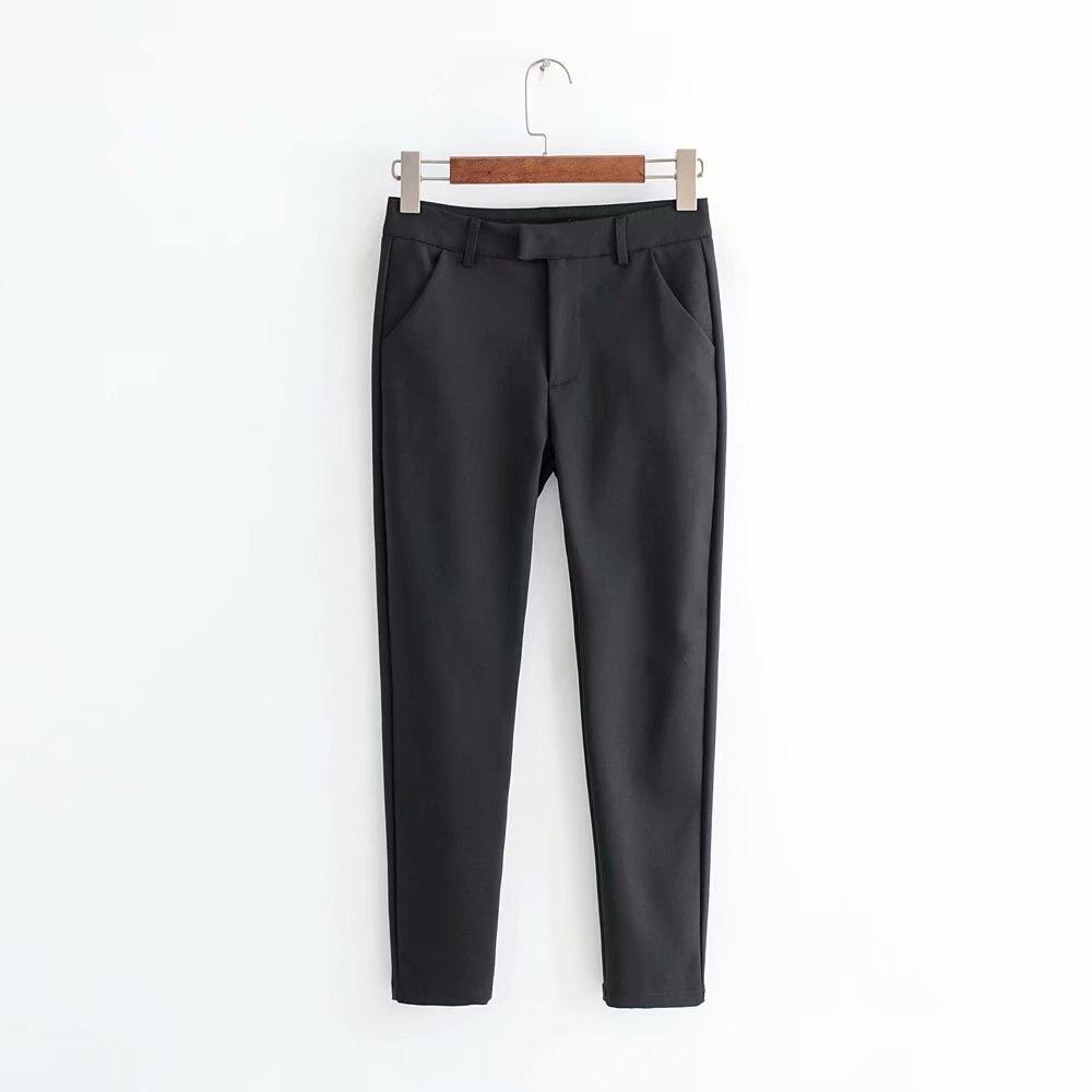 4571-0989 Autumn New Style WOMEN'S Dress Skinny Pants Cotton Nylon Elasticity Slim Fit Slimming Pencil Capri Pants Women's