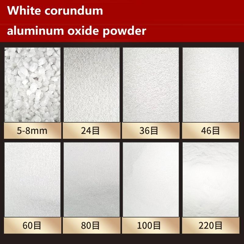 Óxido de Alumínio Branco Alumina Abrasivo Polimento Moagem Jateamento Derusting Máquina Fundido 500g