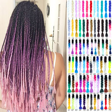DIY Braid Headwear Dreadlocks wig men and women small dreadlocks African gradient multi-color braided hair