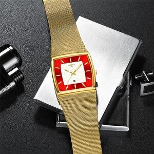 Image 4 - Mavi NIBOSI Chronograph kare saat özel tasarım spor erkek saatler su geçirmez yaratıcı izle adam kol saati Relogio Masculino