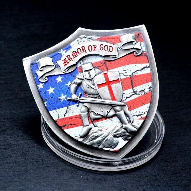 Немагнитная Посеребренная монета, надеваемая на всю броню Бога, памятная монета, монета, не монетница