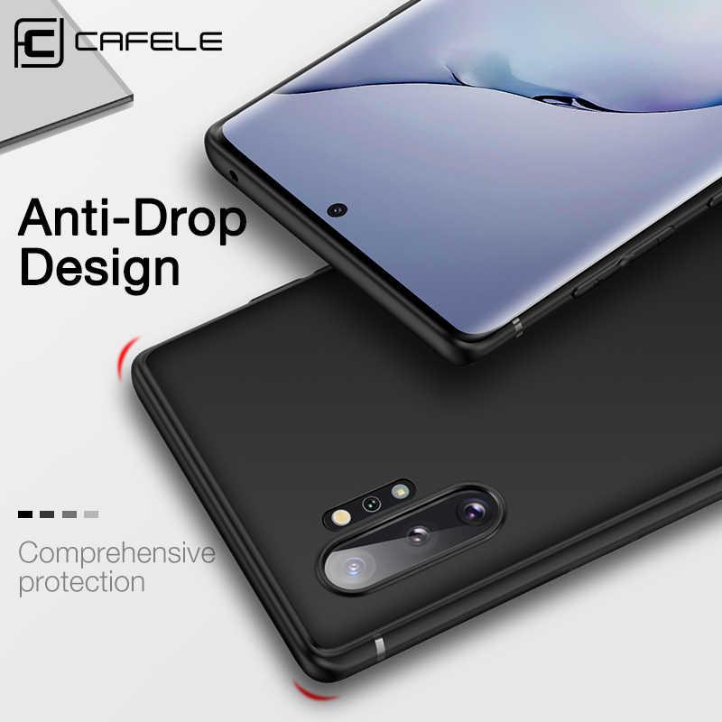 Cafele Phone Case untuk Samsung Galaxy Note 10 Pro A9s Lembut Tpu Bisnis Case untuk Samsung Note10 Pro Penutup Belakang anti Sidik Jari
