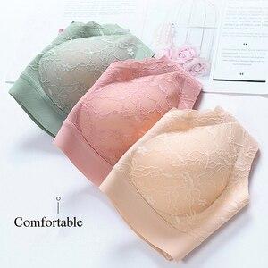 Image 2 - Elifashion Neue Japanischen Stil nahtlose unterwäsche volle spitze schaum latex Tasse sexy schönheit zurück ohne stahl ring weste ein stück bh
