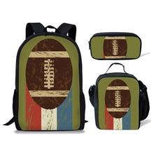 NOISYDESIGNS Baseball 3D Printing School Backpack for Kids Bag 3pcs/set Bags Children Primary Schoolbag Boys Book