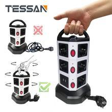 TESSAN האיחוד האירופי כוח רצועת מגדל חשמל מאריכים תקע שקע עם USB יציאות מתג 2m כבל האיחוד האירופי Plug עבור מטען