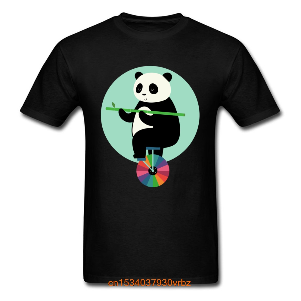 Best Panda Print T-shirt Man Tshirt Learn to Balance Your Life Men Hip Hop Tops & Tees Crewneck YEAR DAY Cotton T Shirts Summer