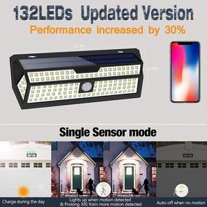 Image 4 - 1/2 Pack LITOM 132 LED solarny czujnik ruchu PIR kinkiet biała lampa ogrodowa IP65 wodoodporna do dekoracji ogrodu