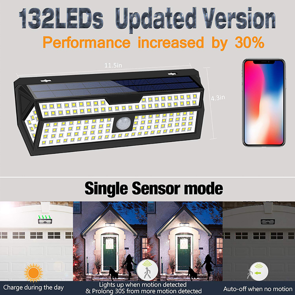 1 2 pacote litom 132 led solar 03