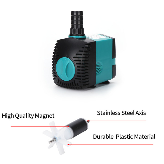 Ultra-Quiet Submersible Water Fountain Pump - Perfect For Outdoor/Indoor Ponds 4