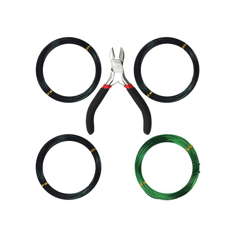 Tree Training Wires For Bonsai Tree, With Bonsai Wire Cutter - Size 1.0 Mm/ 1.5 Mm/ 2.0 Mm (128 Feet Total), Anti-Corrosion And