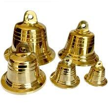 Petites cloches en cuivre, grande cloche d'église en métal doré pendentif carillon à vent pour sonnette de noël 4 cm 5 cm 7.2 cm 9.5 cm 12 cm