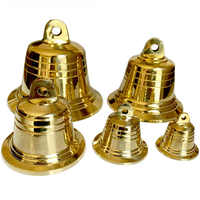Small Copper Bells Large Gold Metal Church Bell Pendant Wind Chime for Doorbell Christmas Jingle 4 cm 5 cm 7.2 cm 9.5 cm 12 cm