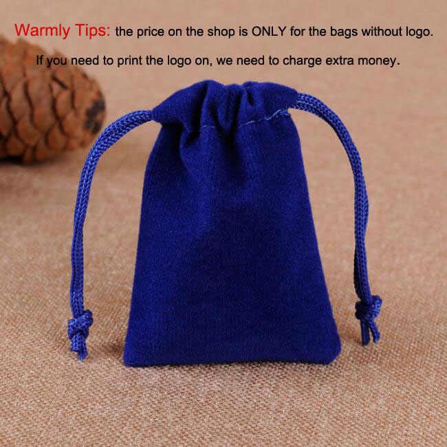 100 sztuk/partia 5x7, 7x9, 8x10, 10x12cm sznurek aksamitne torby i torebki torby jubilerskie torby do pakowania prezentów dostosuj niestandardowe Logo druku
