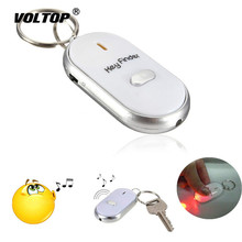 1pcs Car Keychain LED Finder Locator Find Lost Keys Chain Keychain Whistle Sound Control Key Ring цена